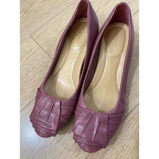 ナインウエスト(NINE WEST)のeasy spirit 紫 パンプス 22.5cm(ハイヒール/パンプス)