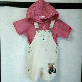 PINK HOUSE - ベビーピンクハウスクマ刺繍のショートオール M(110cm)