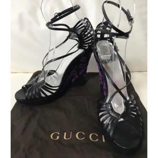 グッチ(Gucci)の新品未使用⭐︎GUCCI・グッチ★アンクルストラップ パンプス(39C)(サンダル)
