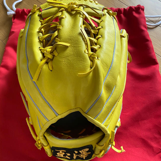 Tamazawa - 江戸前 玉澤 両投げ 軟式 オールラウンド用 グラブ グローブ 野球 収納袋付き
