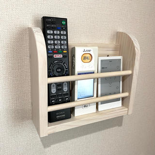 壁掛け リモコンホルダー/ リモコンストッカー 収納 ケース 棚 テレビ(小物入れ)