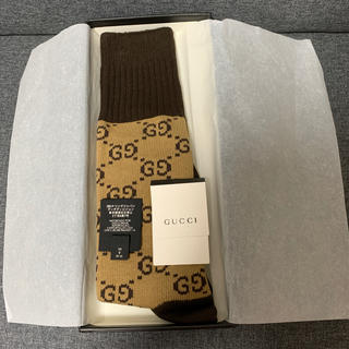 グッチ(Gucci)のgucci GGロングソックス 確実正規品 新品(ソックス)