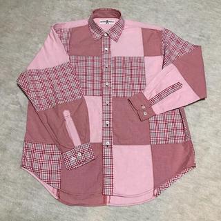 ピンクハウス(PINK HOUSE)のM【NATURE TRAIL/ピンクハウス】パッチワークシャツ(シャツ)