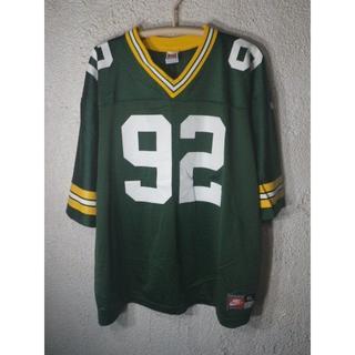 ナイキ(NIKE)の6586 美品 NIKE 90s NFL パッカーズ WHITE ジャージ(アメリカンフットボール)