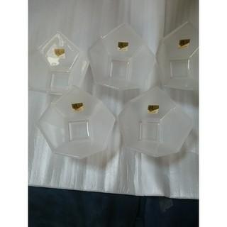 トウヨウササキガラス(東洋佐々木ガラス)のガラス小鉢5こ値下げ(食器)