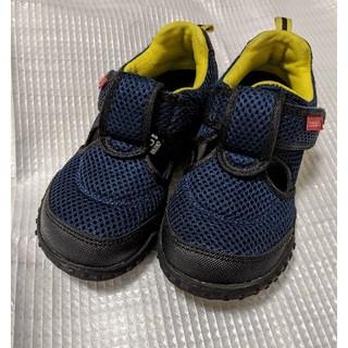 ダブルビー(DOUBLE.B)のミキハウスダブルB中古サマーシューズ靴18cmメッシュサンダル(スニーカー)