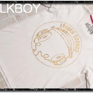 ミルクボーイ(MILKBOY)のミルクボーイ プリントTシャツ 白★やや難(Tシャツ/カットソー(半袖/袖なし))