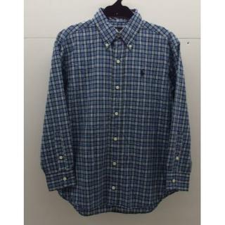 ラルフローレン(Ralph Lauren)の*1173・男の子 ラルフローレン ボタンダウンシャツ 140cm 青系チェック(その他)