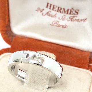 エルメス(Hermes)の★新品 HERMES エルメス K18WG リング 指輪 ヘラクレス(リング(指輪))