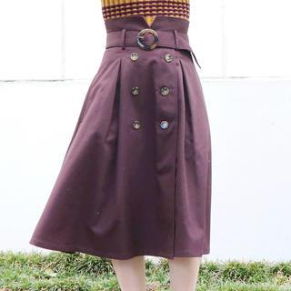 ダズリン(dazzlin)のdazzlin トレンチミモレスカート ブラウン(ひざ丈スカート)