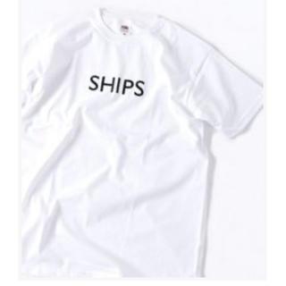 シップス(SHIPS)のshipsロゴTシャツ ホワイト(Tシャツ(半袖/袖なし))