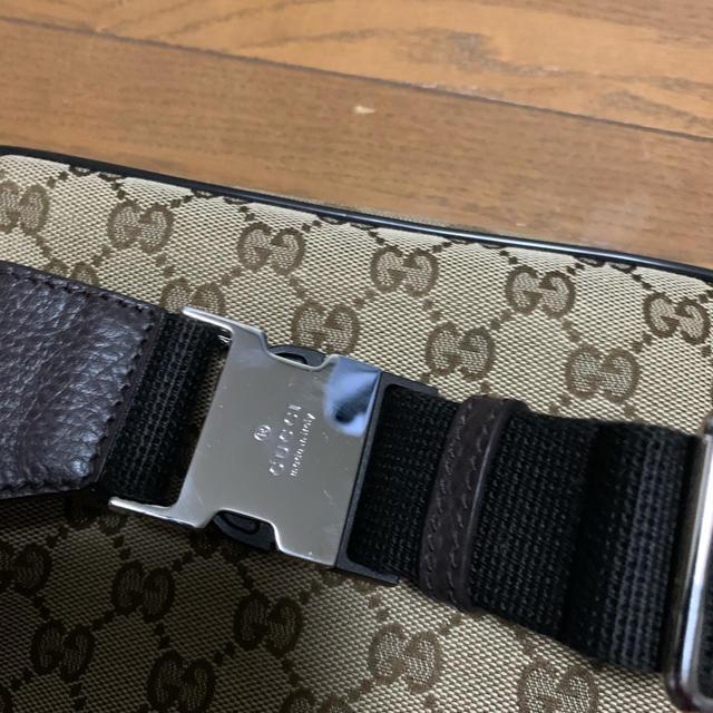 Gucci(グッチ)のグッチ GGキャンバス ボディバッグ ブラウン 449174  メンズのバッグ(ボディーバッグ)の商品写真
