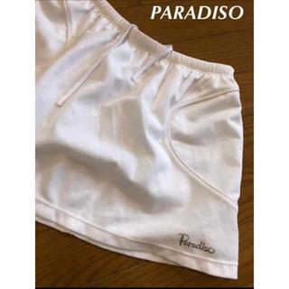 パラディーゾ(Paradiso)のパラディーゾ  テニススコート白 L(ウェア)