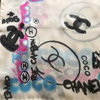 シャネル(CHANEL)のCHANEL♡未使用 タグ付き グラフィックココ スカーフ(バンダナ/スカーフ)