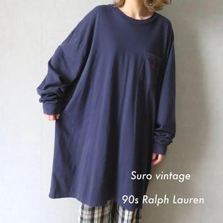 ポロラルフローレン(POLO RALPH LAUREN)の90s ラルフローレン 刺繍 Tシャツ ロンT ワンピース 古着女子(Tシャツ(長袖/七分))