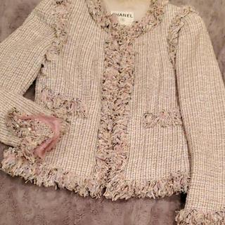 シャネル(CHANEL)のchanel 2008年 pink jacket(ノーカラージャケット)
