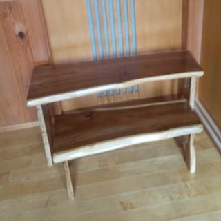 天然木のミニテーブル2個セット(家具)