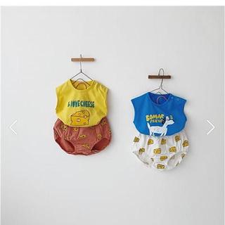 petit main - 最終価格★夏物セール!韓国子供服★ノースリーブ かぼちゃパンツ セットアップ