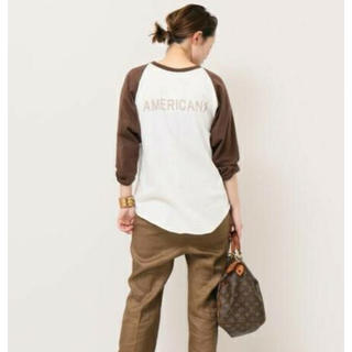 ドゥーズィエムクラス(DEUXIEME CLASSE)のAMERICANA BASE BALL Tシャツ(Tシャツ(長袖/七分))
