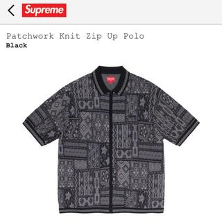シュプリーム(Supreme)のSupreme Patchwork Knit Zip Up Polo(ポロシャツ)