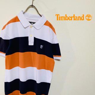 ティンバーランド(Timberland)のティンバーランド ボーダー柄 ポロシャツ S マルチカラー 刺繍ロゴ(ポロシャツ)