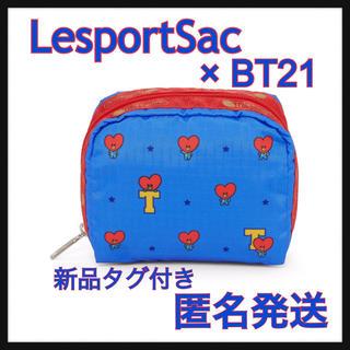 ボウダンショウネンダン(防弾少年団(BTS))の【LesportSac】レスポートサック スクエアポーチ BT21 TATA (ポーチ)