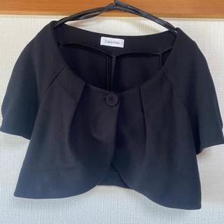 カルバンクライン(Calvin Klein)のカルバンクライン /黒ジャケット(ボレロ)(ノーカラージャケット)