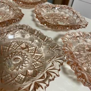 東洋佐々木ガラス - 東洋ガラス ピンク ガラス小皿5枚