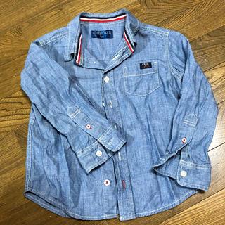 ニシマツヤ(西松屋)のデニムシャツ 110 西松屋 ベビー服 男の子(その他)