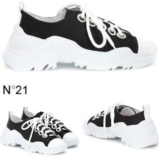 ヌメロヴェントゥーノ(N°21)のN°21ヌメロヴェントゥーノ Satin Sneakersスニーカー 新品未使用(スニーカー)