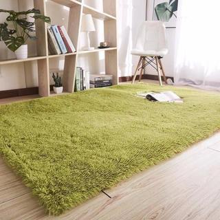 ラグマット カーペット 2畳 滑り止め付 120 * 160  緑(キッチン収納)