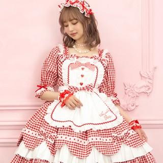 アンジェリックプリティー(Angelic Pretty)の初版Heart cafeセット(ひざ丈ワンピース)