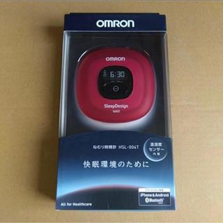 オムロン(OMRON)のOMRON HSL-004T 睡眠計 ねむり時間計 レッド(その他)