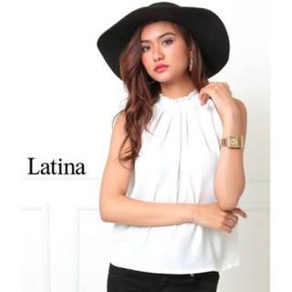 アナップラティーナ(ANAP Latina)のシャーリングネックアメスリシフォントップス(カットソー(半袖/袖なし))