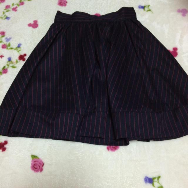 one after another NICE CLAUP(ワンアフターアナザーナイスクラップ)のストライプスカート レディースのスカート(ミニスカート)の商品写真