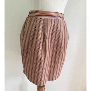 ミスティウーマン(mysty woman)の美品 ストライプタイトスカート(ひざ丈スカート)