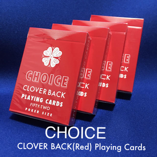 Choice Cloverback (Red) Playing Cards 4個(トランプ/UNO)