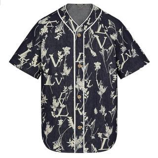 ルイヴィトン(LOUIS VUITTON)のLOUIS  VUITTON LVリーフデニムベースボールシャツ(シャツ)