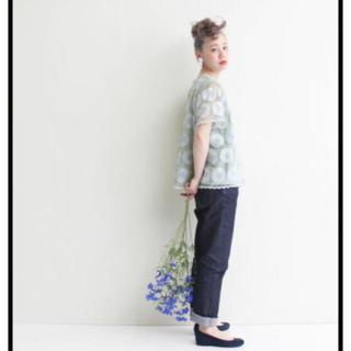 ドットアンドストライプスチャイルドウーマン(Dot&Stripes CHILDWOMAN)の花柄オーガンジーブラウス(シャツ/ブラウス(半袖/袖なし))