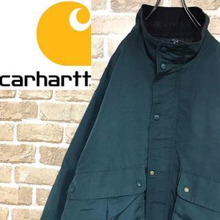カーハート(carhartt)の【カーハート】希少モデル 中綿ナイロンブルゾン ビッグサイズ ダークグリーン(ブルゾン)