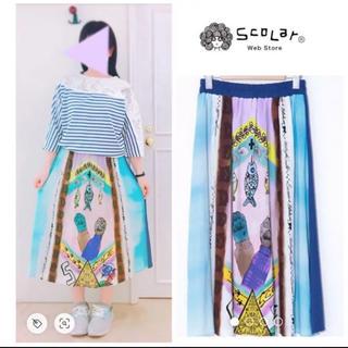 スカラー(ScoLar)のタグ付き新品¥7,452♡ScoLar スカラー♡ネコの手切替スカート(ロングスカート)
