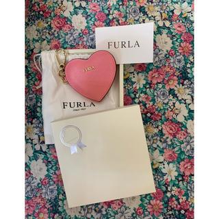 フルラ(Furla)のFULRLA ピンク MINIお鏡/キーホルダー/バックチャーム(バッグチャーム)