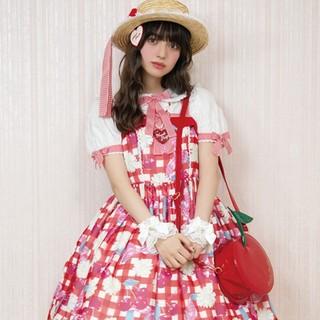 アンジェリックプリティー(Angelic Pretty)のsweet cherry MARGARET  jsk 新品未使用(ひざ丈ワンピース)