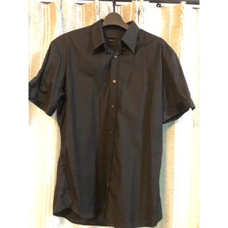 アレキサンダーマックイーン(Alexander McQueen)の半袖シャツ ブラック アレキサンダーマックイーン(シャツ)