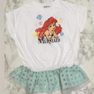 ディズニー(Disney)の即購入OK!新品タグ付 レディース ディズニー プリンセス アリエル トップス(Tシャツ(半袖/袖なし))