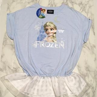 ディズニー(Disney)の即購入OK!新品タグ付 レディース ディズニー プリンセス エルサ トップス(Tシャツ(半袖/袖なし))