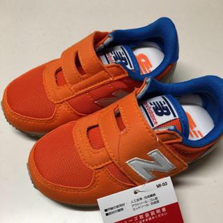 ニューバランス(New Balance)の☆新品☆ニューバランス14.5 キッズシューズ オレンジ ブルー  (スニーカー)