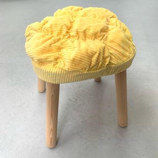 イケア(IKEA)のIKEA 子供スツール用 クッション/イエロー(クッションカバー)
