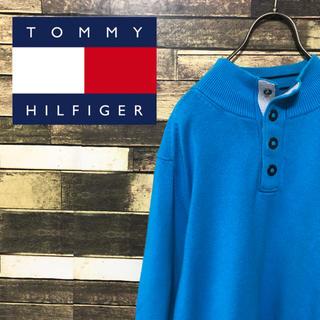 トミーヒルフィガー(TOMMY HILFIGER)の90's トミーヒルフィガー  ロゴ刺繍 ゆるだぼ  プルオーバー トレーナー(ニット/セーター)