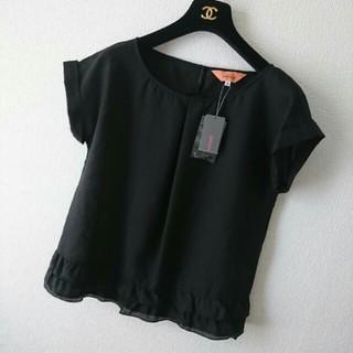 スーナウーナ(SunaUna)の新品◆SunaUna◆黒ブラウスプルオーバー(シャツ/ブラウス(半袖/袖なし))